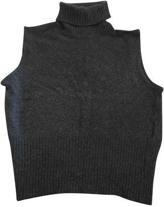 Versace Anthracite Wool Knitwear for Women Vintage