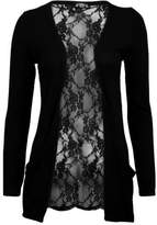 VIP Womens Lace Back Boyfriend Cardigan (Aqa)