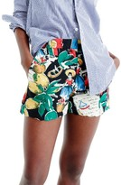 J.Crew Women's Postcard Print High Waist Shorts