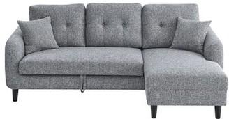 "Latitude Run Flenderson 88"" Wide Flared Arm Sleeper Sofa Bed Upholstery Color: Light Gray"