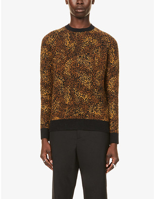 Saint Laurent Leopard-print knitted jumper