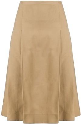 Victoria Beckham pleated A-line skirt