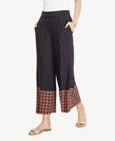 Ann Taylor The Tall Geo Wide Leg Marina Pant
