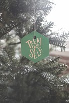 DENY Designs Leah Flores Treat Yo Self X Aquamarine Ornament