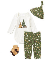 Starting Out Baby Boys Newborn-9 Months Camping Print 4-Piece Layette Set