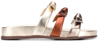 Alexandre Birman Open Toe Bow Detail Sandals