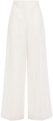 Jil Sander Slub Linen-blend Wide-leg Pants