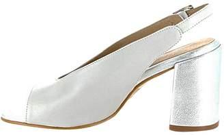 Igualados Silver-Grey Block Heel