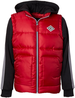 iXtreme Boys' Puffer Coats RED - Red Hooded Puffer Coat - Infant, Toddler & Boys