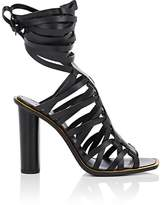 Altuzarra Women's Ankle-Tie Leather Caged Sandals