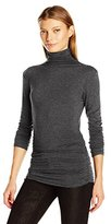 Max Studio Women's Long Sleeve High Neck High Twist Heather Jersey Top