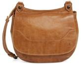Frye 'Melissa' Leather Crossbody Bag - Beige