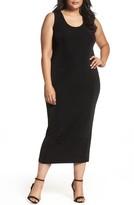 Vikki Vi Plus Size Women's Sleeveless Maxi Tank Dress