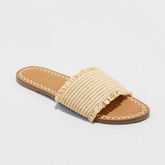 Universal Thread Women's Luciana Woven Slide Sandals - Universal ThreadTM