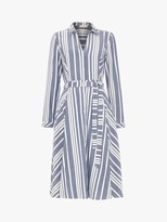 Phase Eight Willa Stripe Shirt Dress, Navy/Ivory