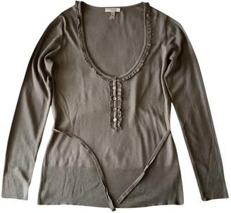 Burberry Khaki Silk Knitwear for Women