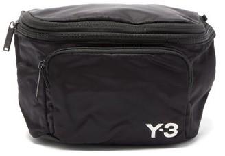 Y-3 Logo-print Packable Shell Backpack - Mens - Black