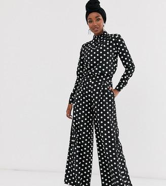 Verona wide leg trousers in polka dot co-ord
