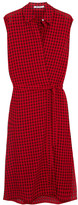 Alexander Wang Plaid Gauze Wrap Dress - Red