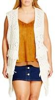 City Chic Plus Size Women's Cocoon Vest