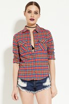 Forever 21 FOREVER 21+ Classic Plaid Flannel