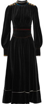 Sonia Rykiel Cotton-blend Velvet Maxi Dress - Black