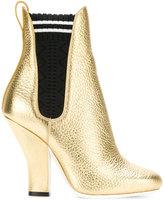 Fendi metallic ankle boots - women - Leather/Nylon - 36