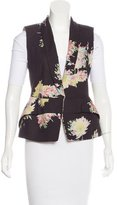 Dries Van Noten Floral Shawl-Lapel Vest