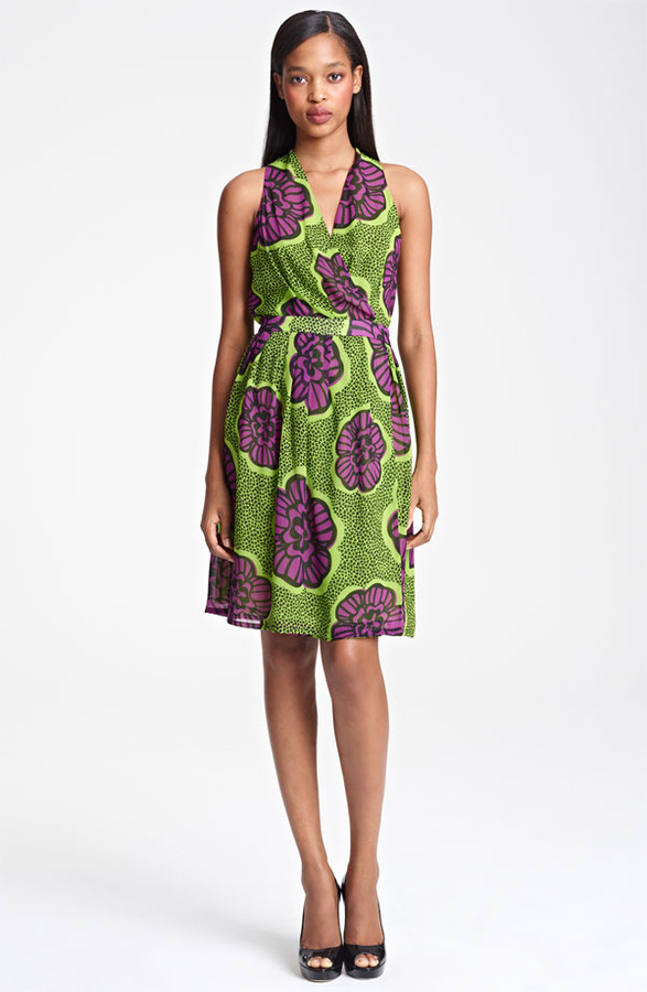 Moschino Cheap & Chic Print Chiffon Dress