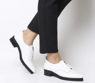 Office Foster Zip Front Cleated Shoes White Leather