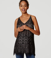 LOFT Maternity Stained Glass Lace Cami