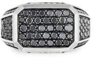 David Yurman Black Diamonds Pave Signet Ring