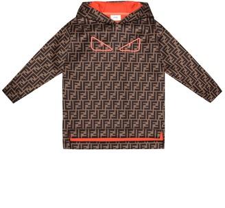 Fendi Kids FF printed hoodie