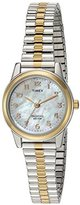 Timex Women's 'Essex Avenue' Quartz Brass and Stainless Steel Dress Watch, Color:Two Tone (Model: TW2P672009J)