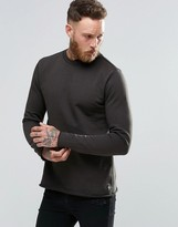 Paul Smith PS by Sweatshirt With Rolled Hem In Dark Gray