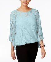 Alfani Petite Lace Bubble Top, Only At Macy's
