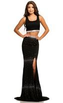 Johnathan Kayne 7114 Two Piece Crystal Embellished Dress