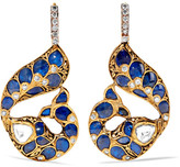 Amrapali 22-karat Gold Multi-stone Earrings - one size