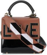 Les Petits Joueurs Alex Black Widow tote bag - women - Leather/Patent Leather/plastic/metal - One Size