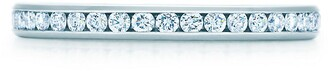 Tiffany & Co. Channel-set band ring Diamonds, platinum 2mm