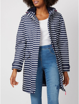 George Striped Shower Resistant Hooded Coat