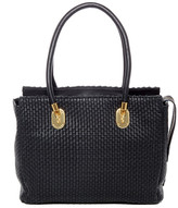 Cole Haan Benson II Woven Leather Work Tote Bag