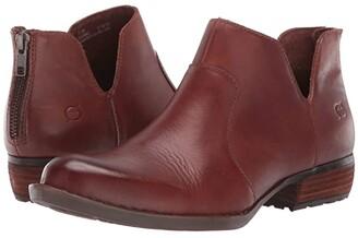 Børn Kerri (Brown Full Grain Leather) Women's Dress Zip Boots