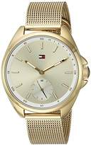 Tommy Hilfiger Women's 'SPORT' Quartz and Stainless-Steel Casual Watch, Color:Gold-Toned (Model: 1781757)