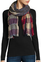 Asstd National Brand Ruched Plaid Scarf