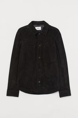 H&M Suede Shirt Jacket - Black