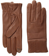 Echo Touch Leather Ruched Cuff Glove