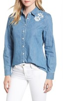 Draper James Women's Howdy Chambray Button Down Shirt