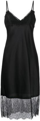 Twin-Set lace-trim slip dress