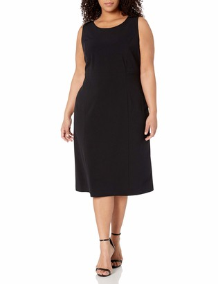 Anne Klein Women's Plus Size Sleeveless Sheath Dress